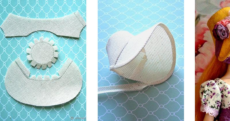 Как сшить барби шляпку 8