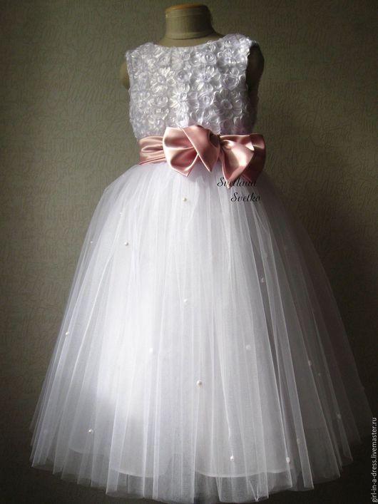 Одежда для девочек, ручной работы. Ярмарка Мастеров - ручная работа. Купить Нарядное платьице. Handmade. Пышное платье, наряд на Новый год