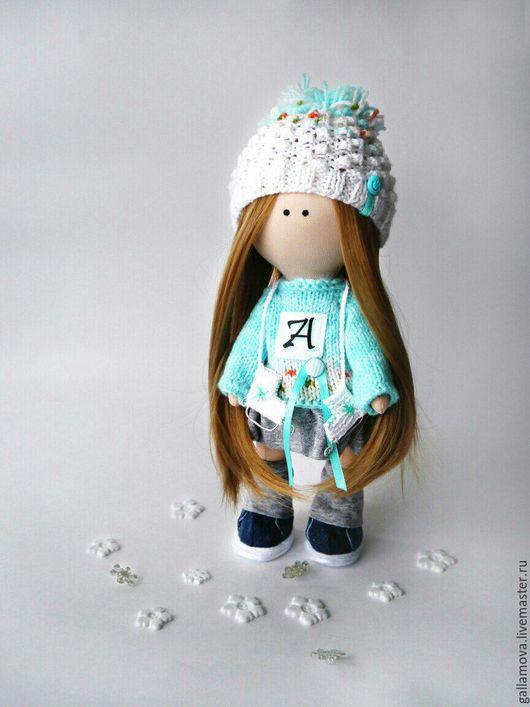Коллекционные куклы ручной работы. Ярмарка Мастеров - ручная работа. Купить Кукла Анита. Handmade. Бирюзовый, кукла интерьерная, для девочки
