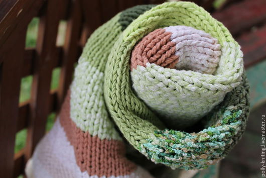 """Пледы и одеяла ручной работы. Ярмарка Мастеров - ручная работа. Купить Плед-одеяло """"Полосатик"""". Handmade. Ярко-зелёный, полосатый"""