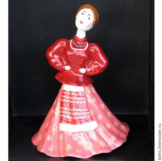 Колокольчики ручной работы. Ярмарка Мастеров - ручная работа. Купить Авторская кукла-колокольчик Кубанская казачка. Handmade. Розовый, национальный