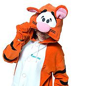 Одежда handmade. Livemaster - original item Tiger Kigurumi - Disney - Custom Handmade - Anti-pill Fleece Pyjamas. Handmade.