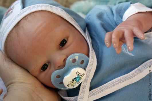 Куклы-младенцы и reborn ручной работы. Ярмарка Мастеров - ручная работа. Купить Малыш Мишенька, кукла реборн.. Handmade. Голубой