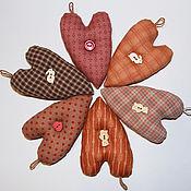 Сувениры и подарки handmade. Livemaster - original item Heart made of patchwork fabric. Handmade.