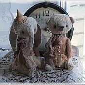 Куклы и игрушки ручной работы. Ярмарка Мастеров - ручная работа Мишка и слоник. Handmade.