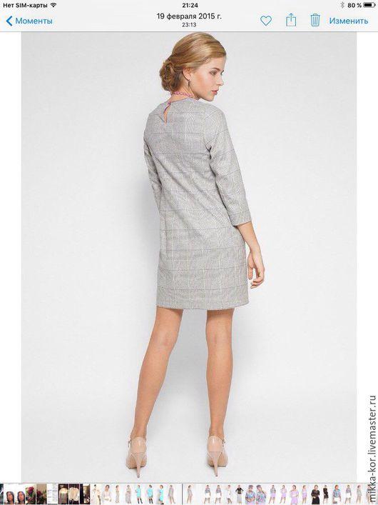 """Платья ручной работы. Ярмарка Мастеров - ручная работа. Купить Платье """" Серая клетка"""". Handmade. Серый, теплое платье"""