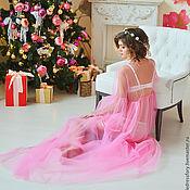 Халаты ручной работы. Ярмарка Мастеров - ручная работа Будуарное платье (пеньюар) для беременных. Handmade.