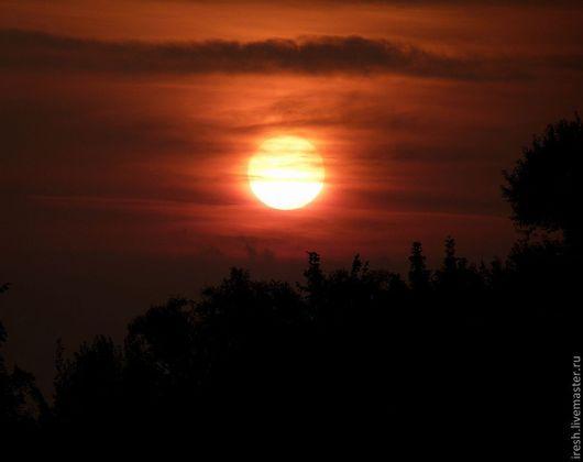 Фотокартины ручной работы. Ярмарка Мастеров - ручная работа. Купить Тревожный восход. Handmade. Фотокартина, восход, солнце, облака