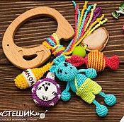 """Развивающая игрушка """"Слон и бегемот"""",грызунок,прорезователь,погремушка"""