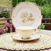 Винтаж handmade. Livemaster - original item Pre-war tea trio (Sorau Steinmann) Germany.. Handmade.