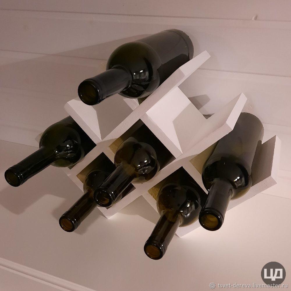 Wine rack 'Sota lite' for 8 bottles in white, Shelving, Moscow,  Фото №1