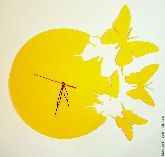 """Часы для дома ручной работы. Ярмарка Мастеров - ручная работа. Купить Часы """"Бабочки"""". Handmade. Часы необычные, бабочка"""