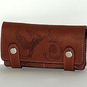 Сумки и аксессуары handmade. Livemaster - original item Wallet leather brown.. Handmade.