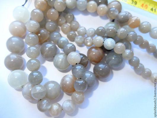 Для украшений ручной работы. Ярмарка Мастеров - ручная работа. Купить Лунный камень натуральный нить 8,10,14мм. Handmade.