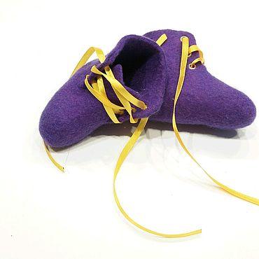 Обувь ручной работы. Ярмарка Мастеров - ручная работа Ботиночки-пинетки для малыша из войлока ручной работы. Handmade.