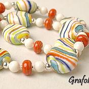 Украшения handmade. Livemaster - original item Beads Multicolored stripes. Handmade.