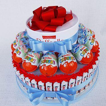 """Цветы и флористика ручной работы. Ярмарка Мастеров - ручная работа Торт из шоколада """"Поздравляем"""". Handmade."""