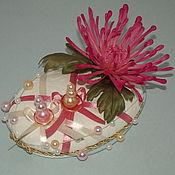 """Подарки к праздникам ручной работы. Ярмарка Мастеров - ручная работа Подушка для колец """"Шёлковая хризантема"""". Handmade."""