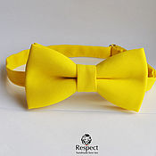 Аксессуары handmade. Livemaster - original item Yellow butterfly tie, Sunny, yellow wedding, bow tie groomsmen. Handmade.