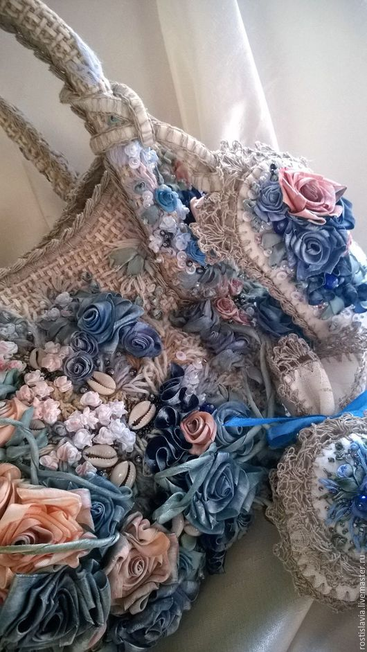 Женские сумки ручной работы. Ярмарка Мастеров - ручная работа. Купить Сумка с вышивкой + подарок .. Handmade. Тёмно-синий