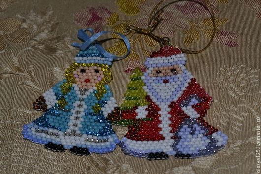 Автомобильные ручной работы. Ярмарка Мастеров - ручная работа. Купить Дед мороз и снегурочка. Handmade. Сувениры и подарки, разноцветный