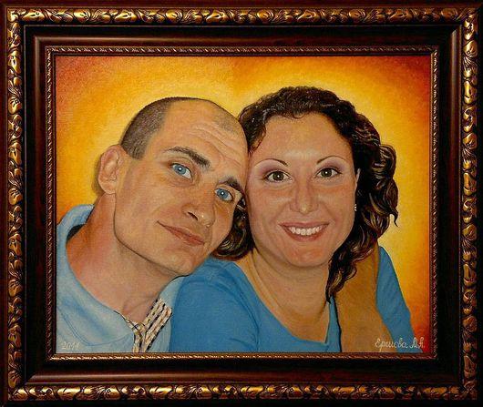Люди, ручной работы. Ярмарка Мастеров - ручная работа. Купить Портрет на годовщину свадьбы. Холст, масло, покрытие защитным лаком.. Handmade.