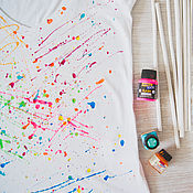 Одежда handmade. Livemaster - original item t-shirt Spray. Handmade.