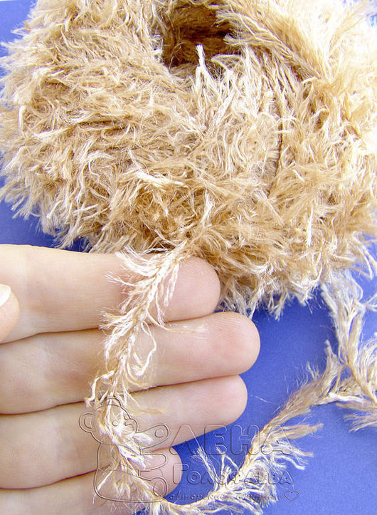 Куклы и игрушки ручной работы. Ярмарка Мастеров - ручная работа. Купить Пряжа светло-коричневая для вязания мишек Тедди и их друзей. Handmade.
