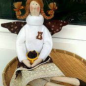 Для дома и интерьера ручной работы. Ярмарка Мастеров - ручная работа Кофея, кухонная фея с зернами кофе. Handmade.