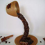 """Цветы и флористика ручной работы. Ярмарка Мастеров - ручная работа Композиция """"Гадание на кофейной гуще"""". Handmade."""
