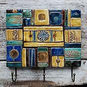 """Для дома и интерьера ручной работы. Ярмарка Мастеров - ручная работа Вешалка""""Круг жизни"""". Handmade."""