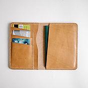 Канцелярские товары handmade. Livemaster - original item Cover for passport and documents from genuine leather. Handmade.