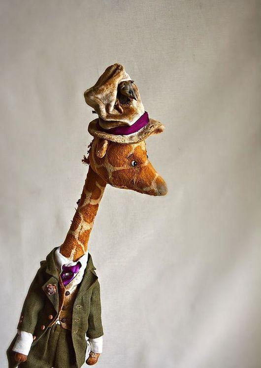 """Мишки Тедди ручной работы. Ярмарка Мастеров - ручная работа. Купить """"...полтора жирафа с Тяпой под шляпой, в костюме графа..."""". Handmade."""