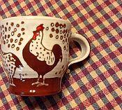 Посуда ручной работы. Ярмарка Мастеров - ручная работа Чашечка с курочками. Handmade.