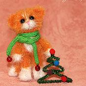 Куклы и игрушки ручной работы. Ярмарка Мастеров - ручная работа Рыжий котик ( вязаная игрушка). Handmade.