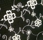 Ткани ручной работы. Ярмарка Мастеров - ручная работа сетка с вышивкой хлопком скидка. Handmade.