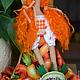 Куклы Тильды ручной работы. Тильда,,Дачница с морковками,,. Елена (elenadollworld). Ярмарка Мастеров. Тильда ангел, текстильная игрушка, фетр