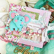 Подарки к праздникам ручной работы. Ярмарка Мастеров - ручная работа Фотоальбом для девочки Слонёнок. Handmade.