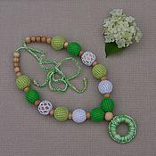 "Одежда handmade. Livemaster - original item Juniper moms sling beads ""Azur hydrangea"". Handmade."