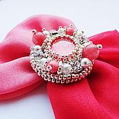 Украшения handmade. Livemaster - original item Coral brooch with Jasper. Handmade.