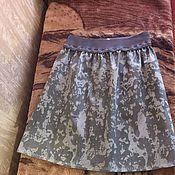 Одежда ручной работы. Ярмарка Мастеров - ручная работа Юбка прямая на резинке в стиле милитари. Handmade.