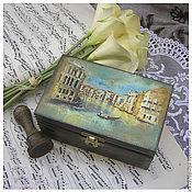 """Для дома и интерьера ручной работы. Ярмарка Мастеров - ручная работа шкатулка """"Венеция"""". Handmade."""