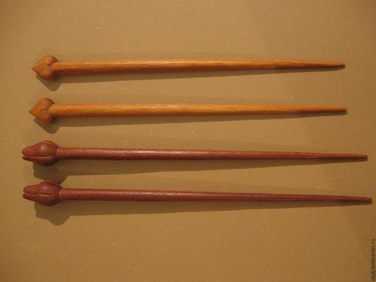 Заколки ручной работы. Ярмарка Мастеров - ручная работа. Купить шпильки из дерева.. Handmade. Фуксия, шпилька ручной работы
