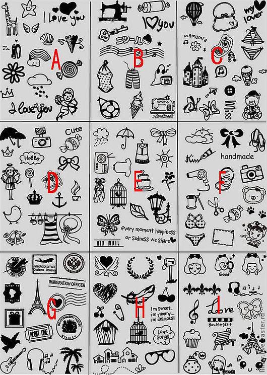 Шитье ручной работы. Ярмарка Мастеров - ручная работа. Купить Бархатные термонаклейки для ткани №14, 9 видов. Handmade. Черный