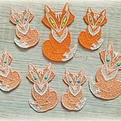 Материалы для творчества handmade. Livemaster - original item thermopatch Family embroidered Fox applique. Handmade.