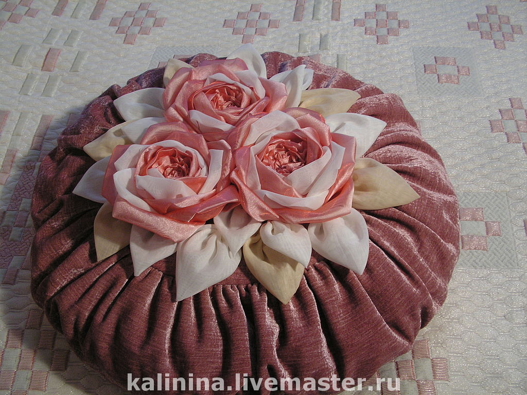 то, подушка роза своими руками с пошаговым фото ломтики