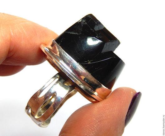 """Кольца ручной работы. Ярмарка Мастеров - ручная работа. Купить Кольцо """"ВОРОЖЕЯ"""" (черный турмалин,шерл).. Handmade. Шерл, оберег"""