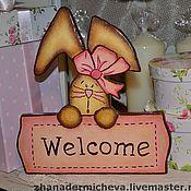 """Для дома и интерьера ручной работы. Ярмарка Мастеров - ручная работа Декор на дверь в детскую комнату """"WELCOME"""". Handmade."""