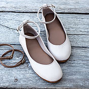 Обувь ручной работы handmade. Livemaster - original item Ballet shoes made of genuine leather with interchangeable straps. size 37 - 37,5. Handmade.