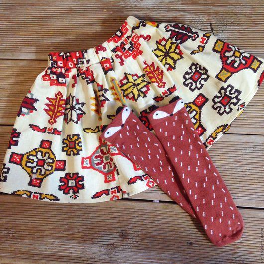 Одежда для девочек, ручной работы. Ярмарка Мастеров - ручная работа. Купить Юбка для девочки. Handmade. Рыжий, юбка, юбка летняя